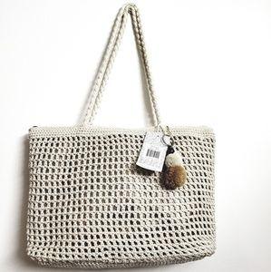 The sak Greenwood hand crochet tote